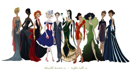 Avengers Gowns: Complete Collection by kelseymichele