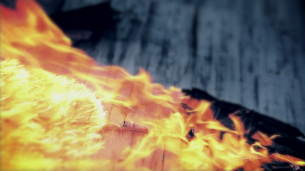 Wildpath's BURIED MOON music video still - Flames by pippa-hynelin