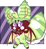 (sold) Fluffy Bat AUCTION by royalraptors