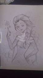 Elsa Frozen - Sketch by HeavenlyRivers