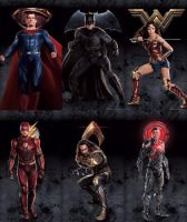 New Justice League Character Promo Arts by Artlover67