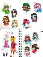 Friends with Copic-chan    15munite  doodle by Momo-chee