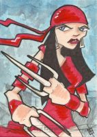 Marvel Masterpieces - Elektra by 10th-letter