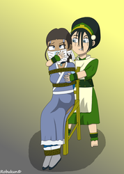 (Request) Toph just wanna make fun with Katara by Robukun