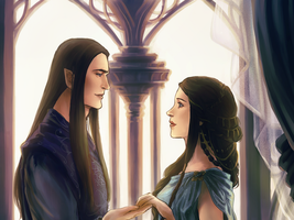 Fingolfin and Anaire by ForeverMedhok