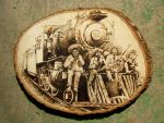 Mexican revolution Woodburning by FesterBZombie