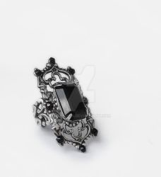 Gothic Cathedral Ring in Black by Aranwen