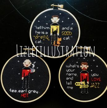 Star Trek Cross Stitch by lizleeillustration