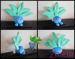 Oddish Pokemon Plush by Miss-Zeldette