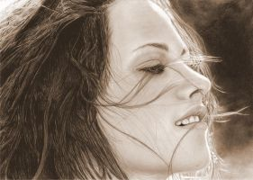 Kristen Stewart sepia version by muse0107