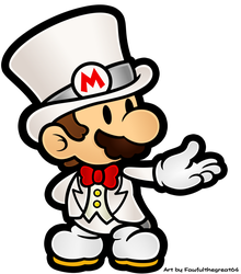 Paper Mario - Wedding Tux by Fawfulthegreat64