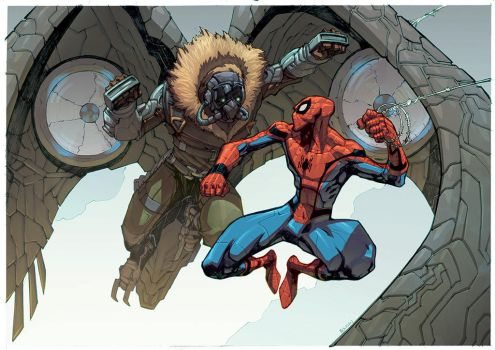 Spidey vs  Vulture Colors by mikebowden