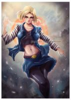 Android 18 by HashTag13
