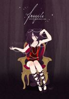fragile - red corset by ShouriMajo