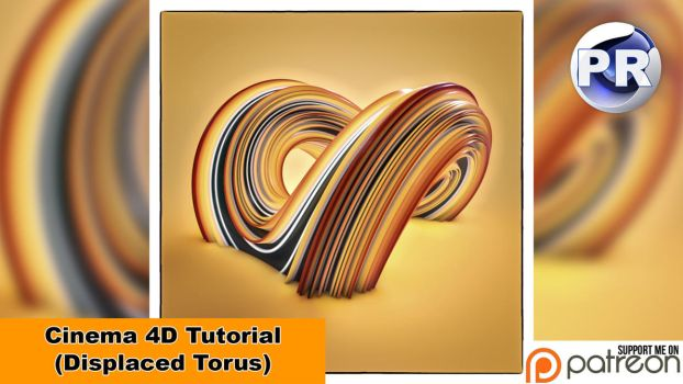 Displaced Torus (Cinema 4D Tutorial) by NIKOMEDIA