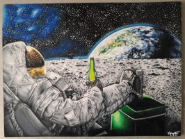 Astronaut  by bubulle23
