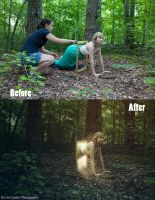 Before and after of The Hiding Place by kevron2001