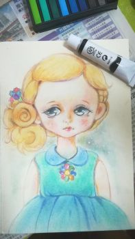 pencil colour training - doll 3 by imaipack