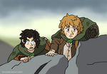The Courage of Hobbits - LOTR Ghibli Style by Juggernaut-Art