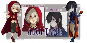 LittleRedRidingHood SnowWhite ADOPTABLE (CLOSED) by AriaRozen