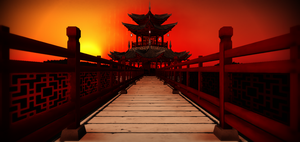 Chinese temple stage by chocosunday