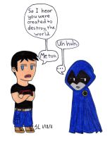 TTYGX1: Superboy and Raven by Countess-A-M