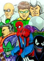 Spiderman and The Sinisters by RedWing99