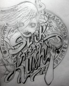 Slick Steady Kush Doodle Moodle by Aigoriller