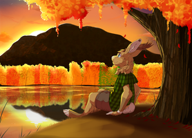 {C.} Autumn Bunny by Phantomania