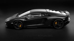 Lamborghini LP700-4 Aventador side profile by StachRogalski