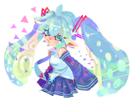 Squid Miku by Kukuruza-Chan