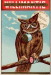 Victorian Advertising - Spool Cotton Owl by Yesterdays-Paper
