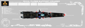 Anvil Class Support Cruiser by EmperorMyric