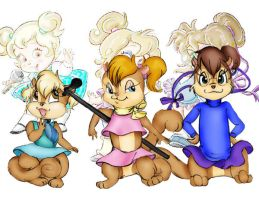 Chipettes 2009 for Sweetdogs by HeavenAndSky