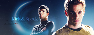 Spock and Kirk - BANNER by FirstTimeLady