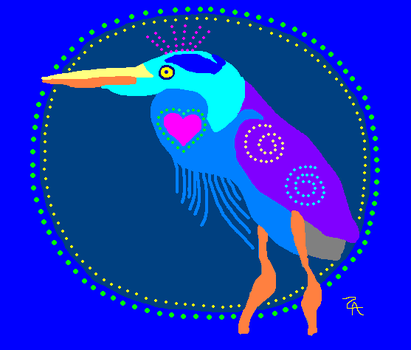 Great Blue Heron Song by turtlesong