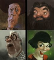 Caricature Speedpaintings 2 by MarcoBucci