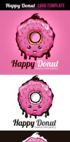 Happy Donut Logo Template by odindesign