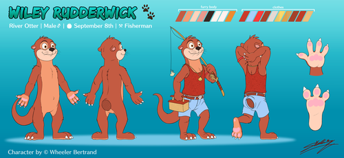 [Comm] Reference sheet: Wiley Rudderwick by SAGADreams