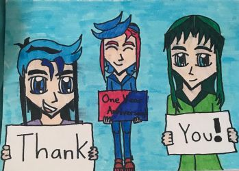 Thank you: My first year anniversary  by legendarylady13