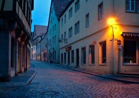 Morning in Rothenburg ob der Tauber V by mannromann
