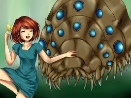 Nausicaa with baby Ohm by Ginaheart-chan