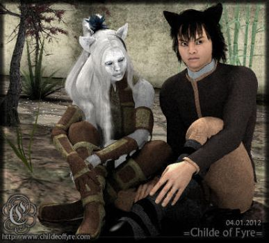 Portrait : Wolfkin : Peng and Ling by Childe-Of-Fyre