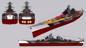 Heidemann-class Super Battleship 1942 Refit by TheoComm