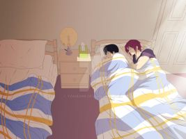 RinHaru Week - Day 4 - A room for two... by Yohao88