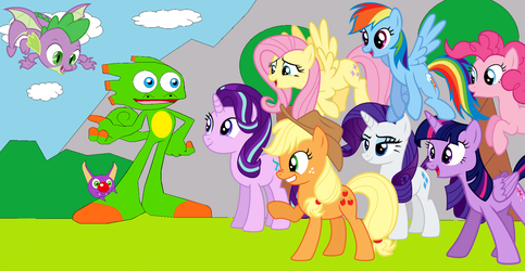 YOOKA-LAYLEE MEET MY LITTLE PONY by crossover-619