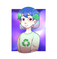 Earth-chan by LunaFireFrost