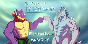 Drako and Draco Friendship Anniversary! by Blue-Laserbeam