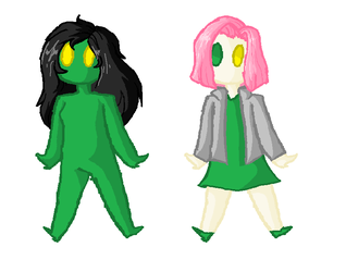 scp 040 and 811 chibi's by MinnaMew