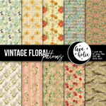 Vintage Floral patterns by AveholicD